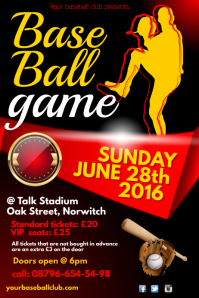 Baseball game Poster
