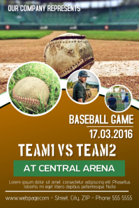 baseball game flyer template