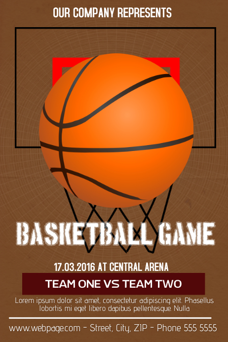 Basketball flyer template postermywall for Basketball tournament program template