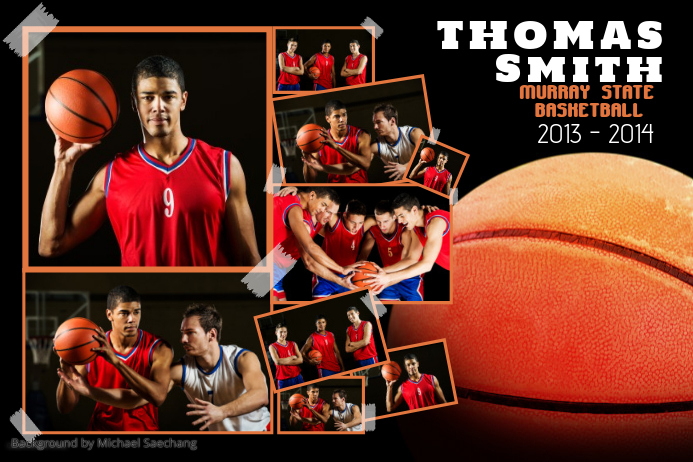 Basketball Sports Poster Template : PosterMyWall