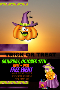 Trick or Treat Halloween Template