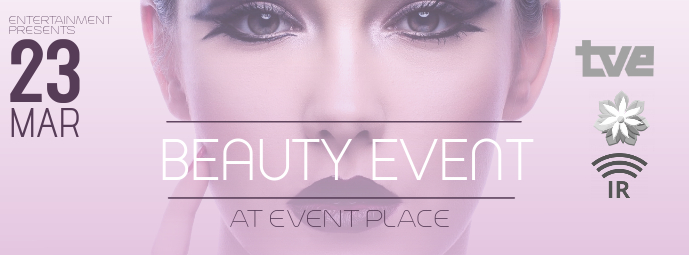Beauty Fashion Event Facebook Cover Template