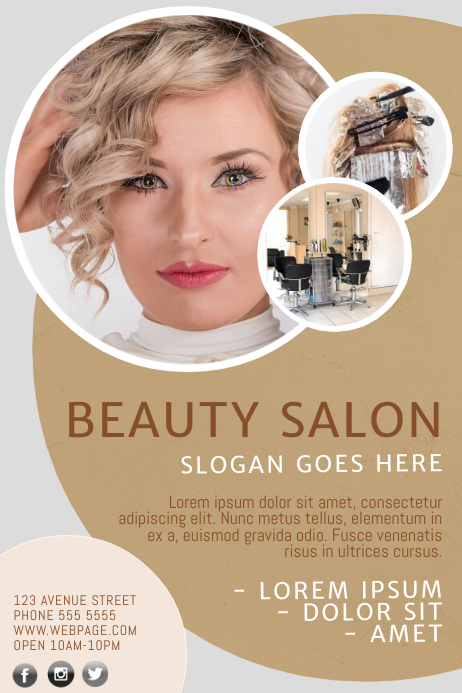Beauty salon flyer template postermywall for 101 beauty salon