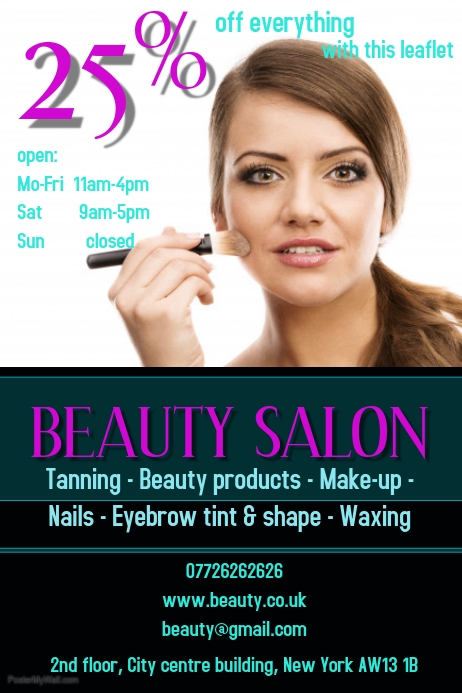 Beauty Salon Template Postermywall