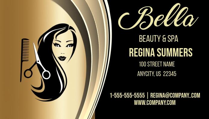 Bella beauty salon spa business card postermywall for Bella salon austin