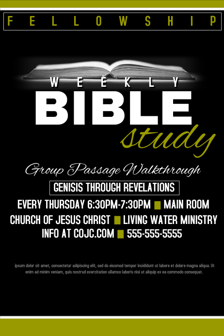 Bible Study template : PosterMyWall
