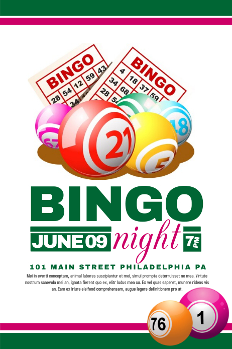 Bingo Flyer template | PosterMyWall