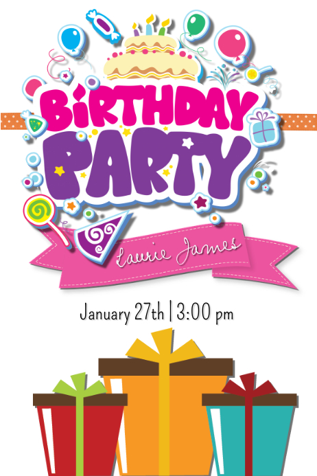 birthday party template postermywall