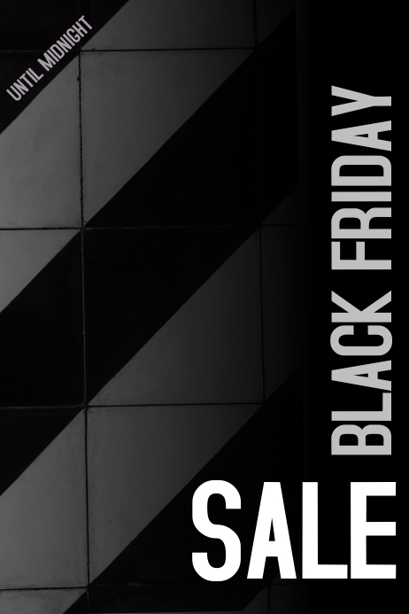 black friday sale poster template postermywall. Black Bedroom Furniture Sets. Home Design Ideas