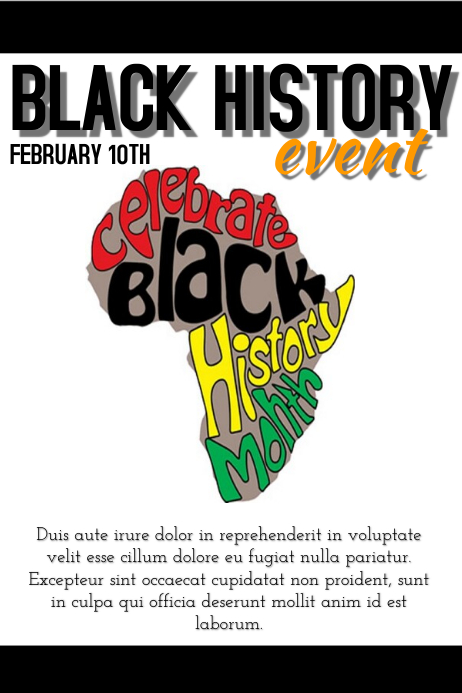 Black history event template : PosterMyWall
