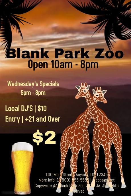 Blank Park Zoo Calendar : Blank park zoo template postermywall