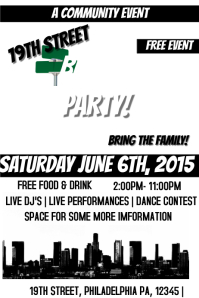 Customizable design templates for block party postermywall for Block party template flyers free