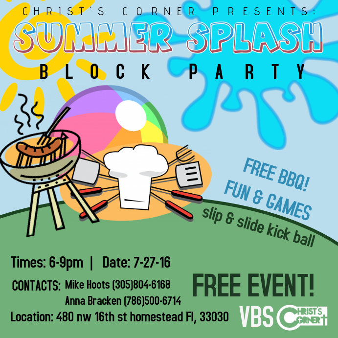 Block Party Flyer Templates PosterMyWall 244C1RUf
