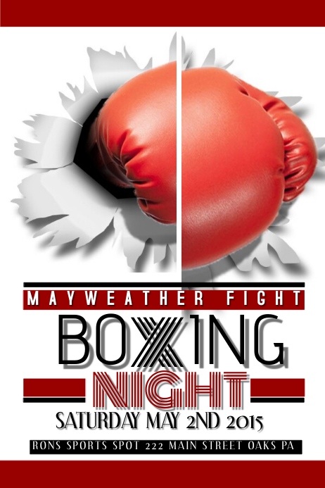 Boxing Flyer Postermywall