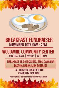 Breakfast Fundraiser Template