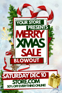 christmas retail poster template