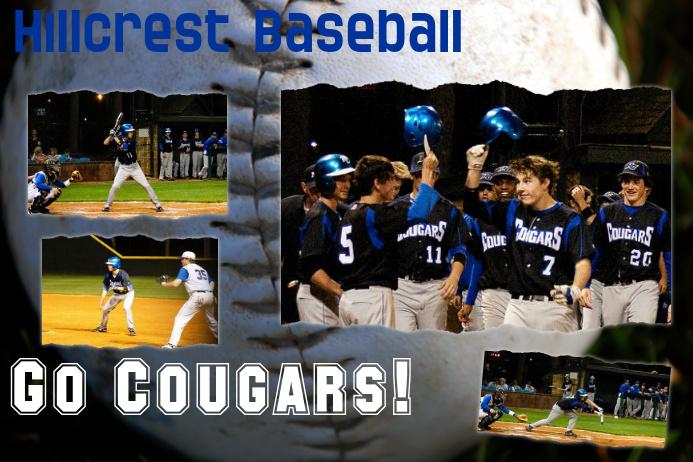 Sample school baseball custom poster