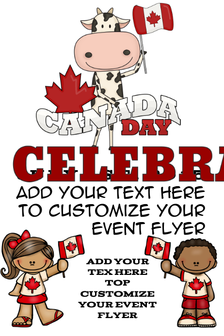 canada day event flyer poster postermywall. Black Bedroom Furniture Sets. Home Design Ideas