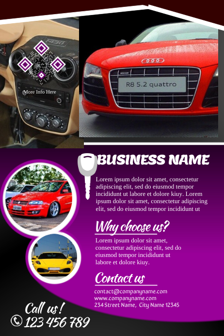 Car sales brochures template postermywall for Sales brochure template