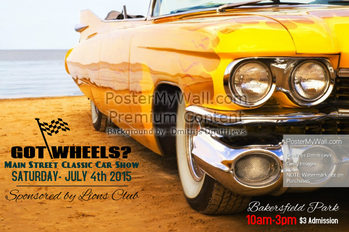 Car Show Flyer Background Car Show Flyer Template Postermywall - Classic car show poster template