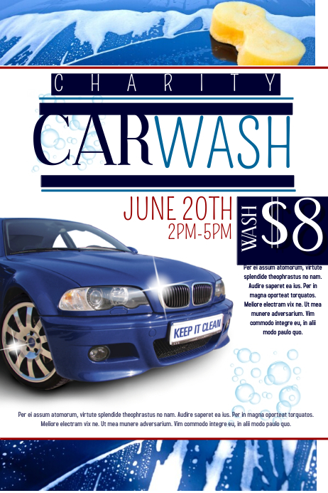 Car Wash Poster Free Template