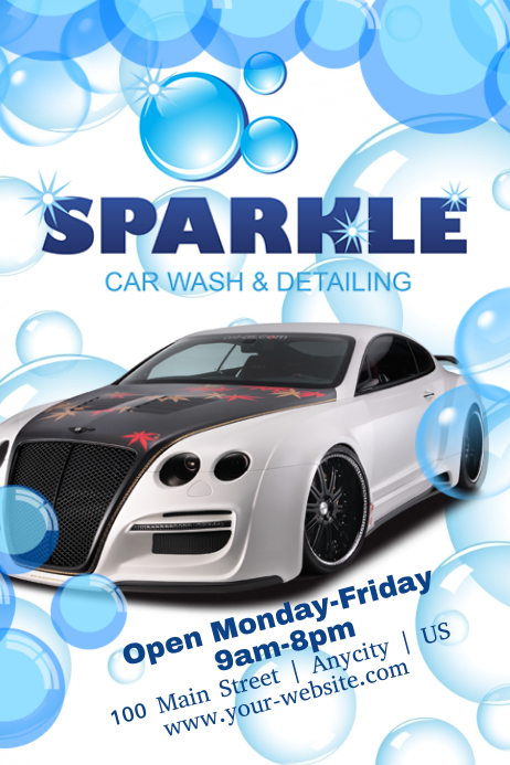 Car Wash Template Postermywall