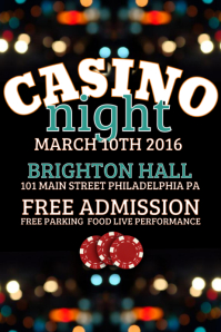 Customizable Design Templates For Casino Night Postermywall