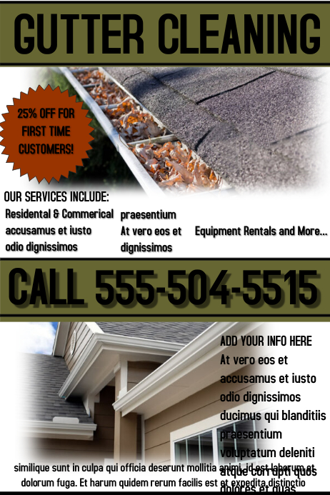 Gutter Cleaning Service Template Postermywall