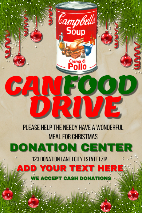 PosterMyWall | Christmas Can Food Drive