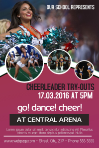 Cheerleader try-outs flyer template