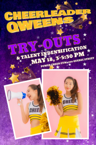 Sample Cheerleading Posters