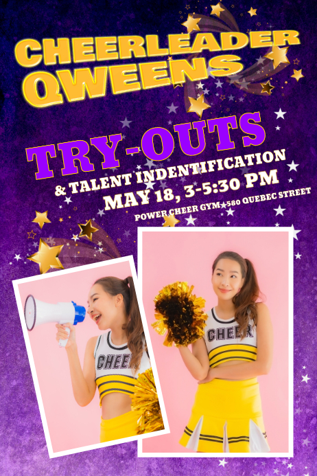 cheerleading poster templates