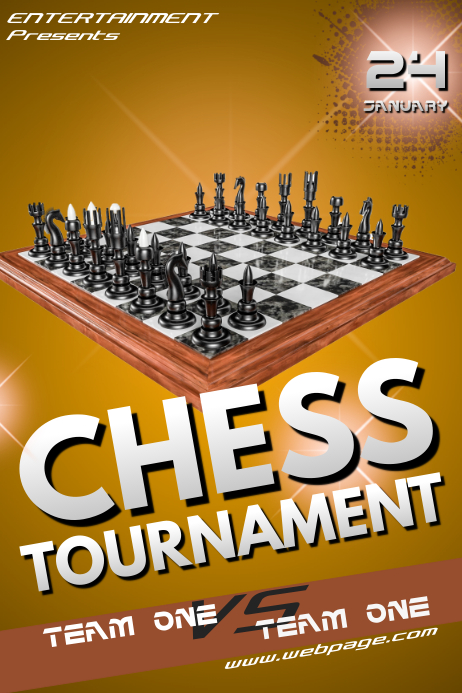 Chess Tournament Flyer Template | PosterMyWall