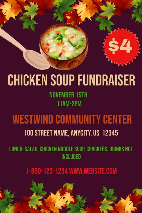 chicken soup fundraiser template