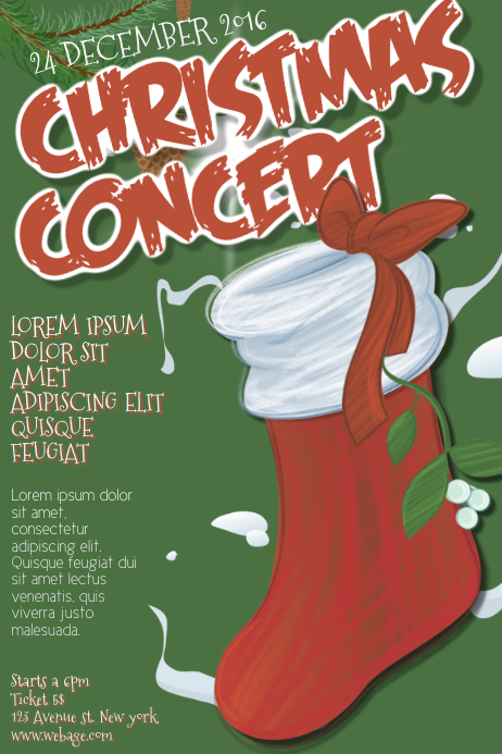 christmas concert flyer template postermywall. Black Bedroom Furniture Sets. Home Design Ideas