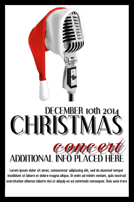 christmas concert template postermywall. Black Bedroom Furniture Sets. Home Design Ideas
