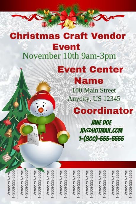 Christmas Craft Vendor Event Template Postermywall
