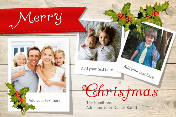 christmas photo collage template postermywall. Black Bedroom Furniture Sets. Home Design Ideas
