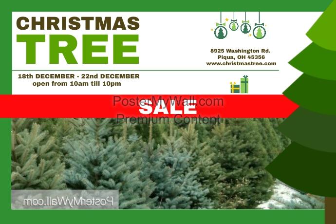 christmas tree poster template