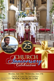 Customizable Design Templates For Church Anniversary
