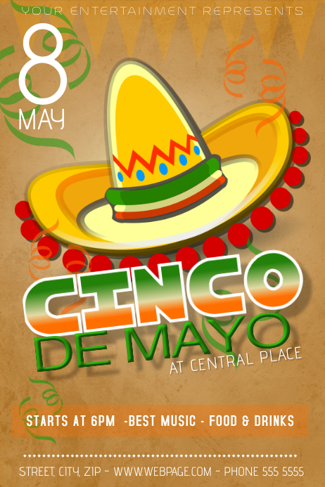 cinco de mayo party fest flyer template | PosterMyWall