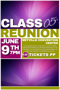 Customizable design templates for reunion postermywall for Reunion banners design templates