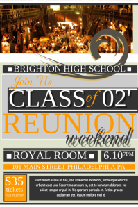 Customizable Design Templates For High School Reunion