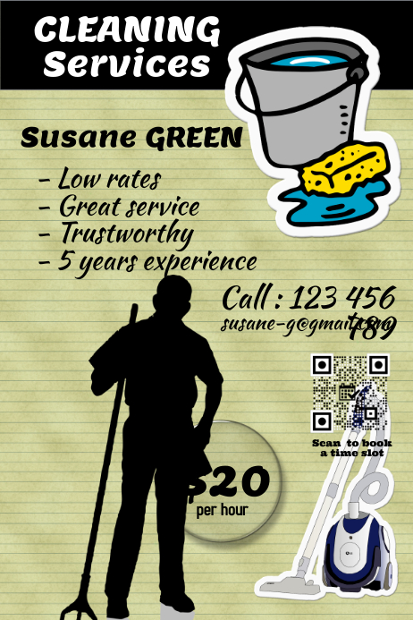 cleaning services flyer and poster