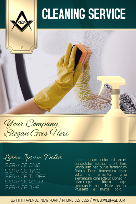 Cleaning Service Flyer Newsletter Template PosterMyWall