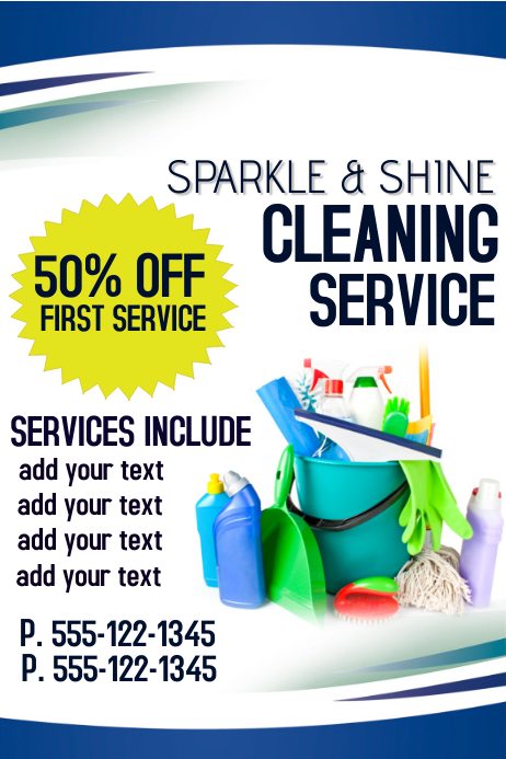 Top Result Elegant Cleaning Services Advertising Templates Image - Cleaning service flyer template