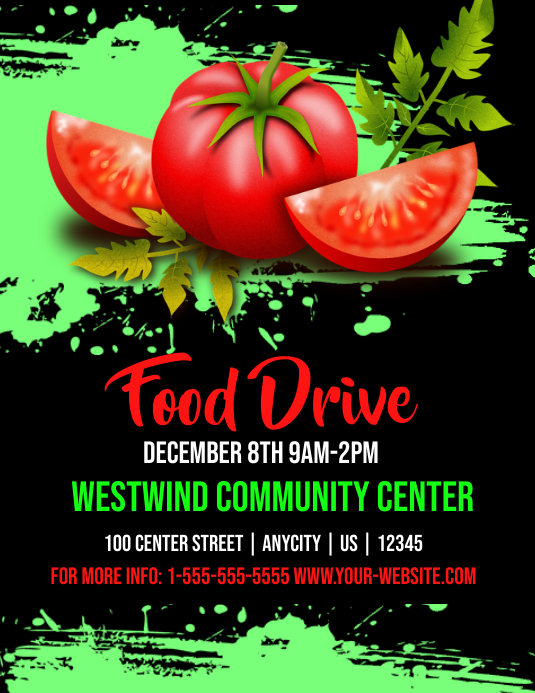 Cn Food Drive Template Postermywall