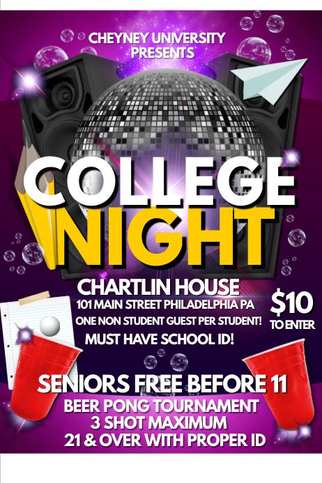 college night template