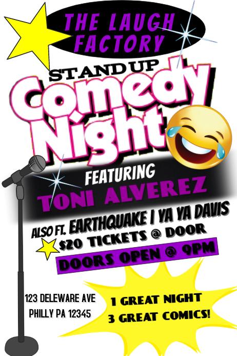 Poster Template » Comedy Poster Template - Poster Template, Frame