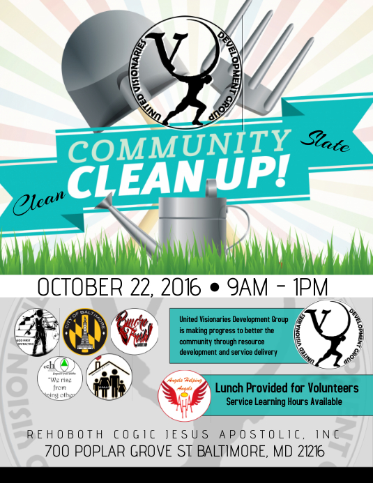 community clean up template